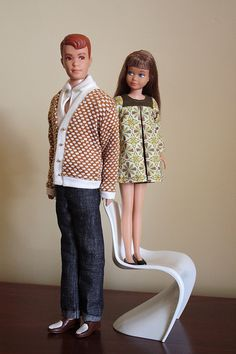 Vintage - Allan and Skipper (I had this Allan Doll) My Skipper had blond hair and a red and white bathing suit!