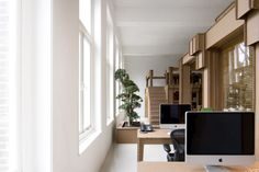 Dutch designer Joost van Bleiswijk has designed a cardboard office interior for new Amsterdam advertising office Nothing. Using the same method of construction as his No Screw No Glue project, van Bleiswijk created the interior using over 500 square metres of reinforced cardboard. The 1500 separate pieces were slotted together using no glue or fixings. The Nothing office, built entirely of cardboard, was designed by internationally recognized designers Alrik Koudenburg & Joost van Bleiswijk.