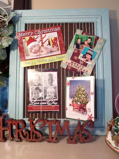 chicken wire framed christmas card holder | Chicken wire frame ...