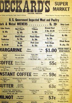 1953 ad...the prices are funny until you remember what the average salary was back then.