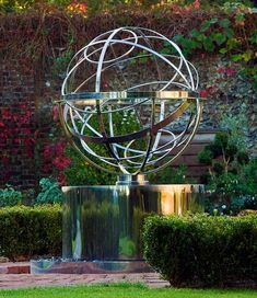 Stainless steel armillary sphere