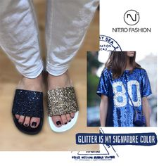 Glitter Slippers <3 #nitrofashion ss'17 collection <3 #nitrofashion #slippers #handmadeingreece #handmadeslippers #fashionshoes #sscollection #summerstyle #nitrolovers #nitroshoes #glitterstyle #infashionshoes