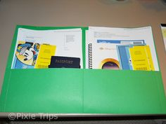 How to keep your travel documents organizes.   Pixie Trips - Your Mouse Tales Travel Disney Vacation Specialist