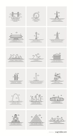 This set contains 18 beautifully crafted pixel perfect World landmark icons.All the icons are available in multiple formats PSD, AI, EPS, PNG, PDF. Icon Set, Shop Icon, Ui Ux Design, Icon Design, Logo Design, Flat Design, Stylo Art, City Icon, Doodle Icon