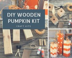DIY KIT Large Wooden Pumpkins, fall adult craft kit, craft kit for adult craft kit make yourself paint kit adult craft kit rustic home decor Crafts For Teens To Make, Craft Projects For Kids, Adult Crafts, Craft Kits, Diy Kits, Craft Ideas, Wood Projects, Decor Ideas, Wooden Pumpkins
