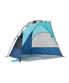 Enjoy camping, tailgating or other outdoor activities with this durable tent that offers a lightweight, breathable design, generous interior space for up to two chairs and a durable fabric construction for providing UPF 50 protection. Setup is quick and easy with a top-pull hub system and the interior stays cool thanks to two mesh windows. 79'' W x 43.5'' H x 45'' DPolyesterImported