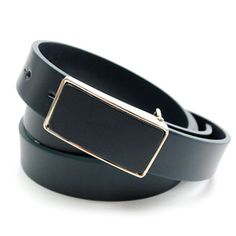 (JPB033-NAVY) Casual Leather Belt from W26 to W36