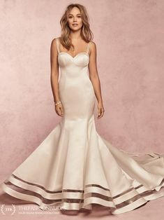 This Carlo Satin wedding dress features a unique horsehair illusion cutout along the hemline. Complete with strapless sweetheart neckline. Western Wedding Dresses, Designer Wedding Dresses, Bridal Dresses, Wedding Gowns, Flower Girl Dresses, Fall Wedding, Satin Mermaid Wedding Dress, Mermaid Gown, Wedding Gown Gallery