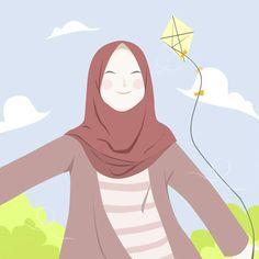 Anime Muslim, Hijab Cartoon, Islamic Art, Islamic Quotes, Drawing For Kids, Me Me Me Anime, Cute Wallpapers, Anime Art, Disney Characters