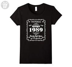 Womens 28th birthday Gift Idea 28 Year Old Boy Girl Shirt 1989 Medium Black - Birthday shirts (*Amazon Partner-Link)