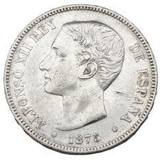 Moneda de plata de 5 pesetas de Alfonso XII                                                                                                                                                                                 Más