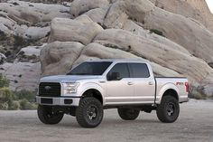 In cooperation with Ford Motor Company, Fabtech has developed two Suspension Systems for the all new 2015 These new systems include heavy duty thick steel lower control ar… F150 Lifted, Lifted Chevy, Lifted Ford Trucks, Jeep Truck, New Trucks, Chevy Trucks, Pickup Trucks, Custom Trucks, 2015 Ford F150