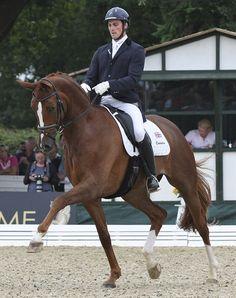 Woodlander Farouche being ridden by Michael Eilberg. ©2012 Ilse Schwarz/dressage-news.com
