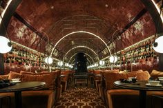 Mott 32, Joyce Wang Recently opened restaurant Mott 32, in the basement of the Standard Chartered Bank landmark in Central, Hong Kong, has been gaining attention for its food and dramatic interiors.