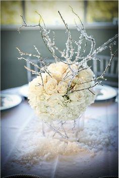 Winter Thema-Hochzeit Deko Idee-Rosen