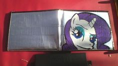 My Little Pony Rarity Duct tape Wallet. $14.00, via Etsy.