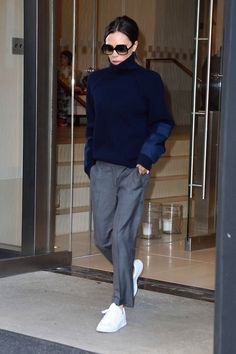 Victoria Beckham Swaps Stilettos for Sneakers in New York's Deep Freeze