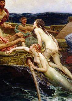 Herbert James Draper - Ulysses and the sirens, 1909