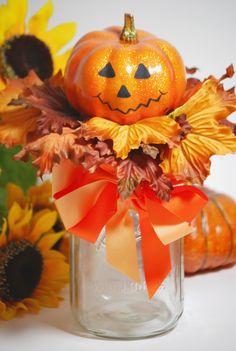 Halloween Pumpkin Gift Jar!