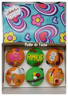 Caja de cupcakes para un barman.