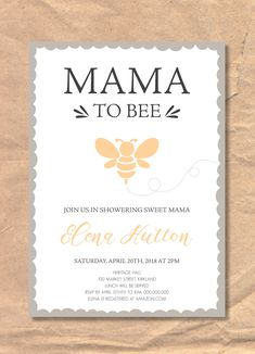 Excited to share the latest addition to my #etsy shop: Printable Baby Shower Invitation: Mama Bee https://etsy.me/2FZUf3p #papergoods #yellow #babyshower #black #pdf #printable #template #babyshowerinvite #printableinvitation #mamabe #babyshower