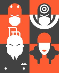 Re-Vision — Pop culture icons by Forma and Co , via Behance
