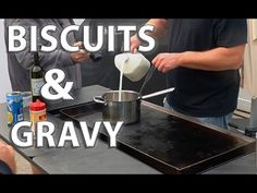 Biscuits and Gravy - on the griddle - YouTube Blackstone Griddle, Biscuits And Gravy, Sausage Gravy, Griddles, Oven, Breakfast, Sauces, Youtube, Morning Coffee