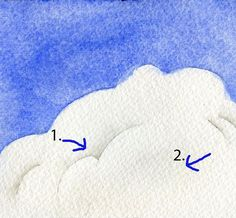 Sharp shading a cumulus cloud with paint