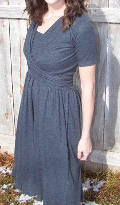 Feito por mim. Compartilhado com você .: duas peças vestido de Enfermagem Knit Wrap: Tutorial com Pattern