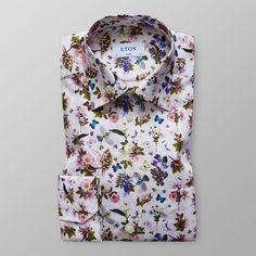Vitblommig skjorta - Classic fit | Eton Shirts Sverige