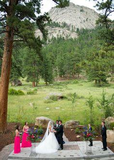 Glitter and Glam Mountain Wedding | A Colorado Mountain Wedding