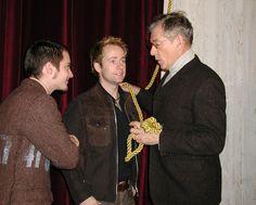 Elijah Wood (Frodo Baggins), Billy Boyd (Pippin Took) and Ian McKellen (Gandalf).
