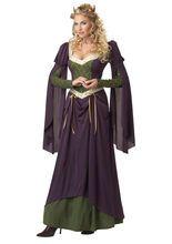Rapunzel Burgfräulein Prinzessin Mittelalter Maid Damenkostüm lila-grün