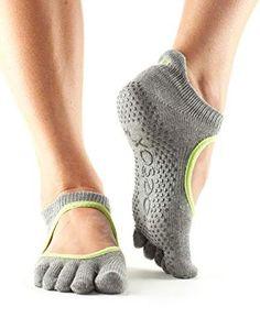 ToeSox Women's Bella Half Toe Grip Non-Slip for Yoga, Pilates, Barre, Ballet Toe Socks (Heather Grey/Lime Trim) Medium – Healthy Lifstyle Pilates Socks, Barre Socks, Pilates Barre, Grip Socks, Toe Socks, Unisex, Yoga Shoes, Non Slip Socks, Ballet