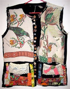 Repurposed & Altered Antique Textiles Wearable ART  TUNIC mybonny