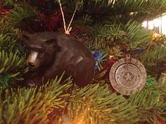 """Our favorite two ornaments on the tree!"" (via @SAPaige) #sicem #Baylor #Christmas"
