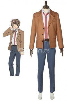 a5617fcf2aedf Rascal Does Not Dream Of Bunny Girl Senpai Sakuta Azusagawa School Uniform.  Boys UniformsCosplay OutfitsCosplay CostumesAdult ...