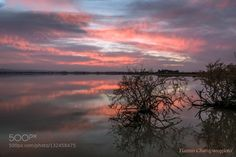 True sunset colours in the lake by yiannischatzipanagiotis. Please Like http://fb.me/go4photos and Follow @go4fotos Thank You. :-)