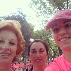 Carrera de la Mujer Madrid 2014 con mi tía y mi madre