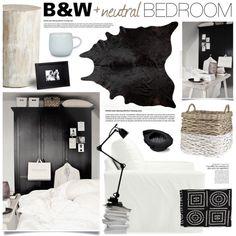"""B&W Bedroom"" by bellamarie on Polyvore"