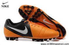 2013 New Orange Black White Nike CTR360 Maestri III AG Soccer Shoes For Sale