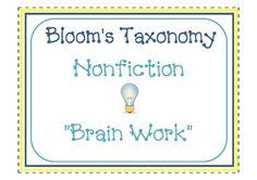 Bloom's Taxonomy Brain Work