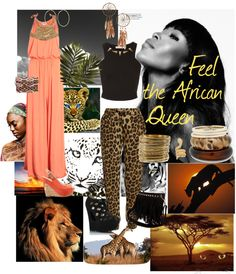 """""""Feel the African Queen"""" by thecreationsvic ❤ liked on Polyvore"""