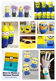 Making Minions crafts will be loads of fun for your kids. After all, who doesn't love the Minions? These Despicable Me characters are some of our favorites. You can even use these hysterical subterranean characters at your next birthday party. Minion Movie, Minions Despicable Me, Minion Party, Craft Stick Crafts, Crafts For Kids, Arts And Crafts, Minion Craft, Movie Crafts, Craft Day