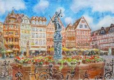 "Saatchi Art Artist Roman Chudnovsky; Painting, ""Frankfurt"" #art"