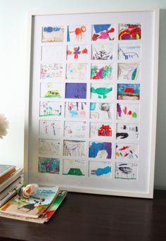 Cadres des mini-oeuvres d'art d'enfants