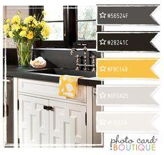Color palette black gray grey orange silver tahiti Orange and yellow kitchen ideas