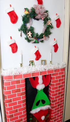 christmas door decorating contest winners jsc features building 419 decks the halls aaron office door decorated