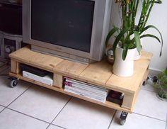 Mesa plataforma para TV, con palets reciclados : VCTRY's BLOG