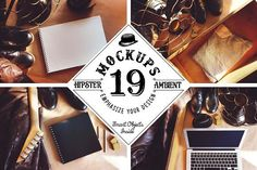 19 Mockups (Hipster Ambient) by Liviu on @creativemarket